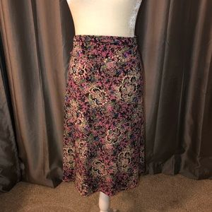 LulaRoe multi color Azure skirt 2XL